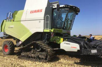 В Краснодаре прошли тесты нового комбайна Claas Tucano 580 для уборки риса